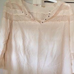 Rebecca Taylor silk lace top- size 4